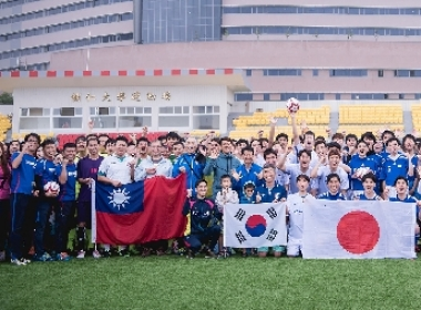 CGM全国和平足球赛,台日韩港四国队伍同场竞技。 图/CGM足球联盟提供